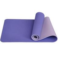 E33584 Коврик для йоги ТПЕ 183х61х0,6 см (сиреневый/св.сиреневый), 10017397, КОВРИКИ