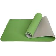 E33580 Коврик для йоги ТПЕ 183х61х0,6 см (зелено/серый), 10017398, TPE/ТПЕ