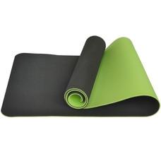 E33582 Коврик для йоги ТПЕ 183х61х0,6 см (т.зеленый/салатовый)