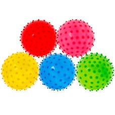 T07489 Мяч надувной с шипами d-25 см. (Mix)