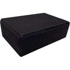 BE100-7 Йога блок полумягкий (черный) 223х150х76мм., из вспененного ЭВА (A25574)