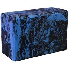 BE200-10 Йога блок полумягкий (синий гранит) 223х150х76мм., из вспененного ЭВА (A25577)