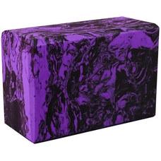 BE200-11 Йога блок полумягкий (фиолетовый гранит) 223х150х76мм., из вспененного ЭВА (A25578)