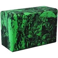 BE200-13 Йога блок полумягкий (зеленый гранит) 223х150х76мм., из вспененного ЭВА (A25580), 10018507, ЙОГА БЛОКИ