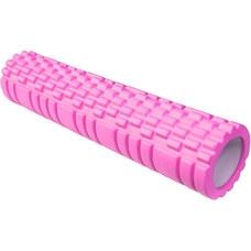 E29390 Ролик для йоги (розовый) 61х14см ЭВА/АБС
