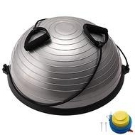 BOSU055-22 Полусфера BOSU гимнастическая, 58см., (серый) в комплекте с эспандером и насосом (B31663), 10018612, МЯЧИ ГИМНАСТИЧЕСКИЕ