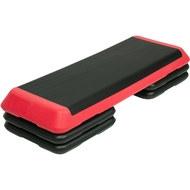 STPRO201-4D Степ платформа обрезиненная Профи, 3-х уровневая (красная), 10019049, Степперы