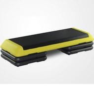 STPRO201-5E Степ платформа обрезиненная Профи, 3-х уровневая (Желтая), 10019050, 03.ТРЕНАЖЕРЫ