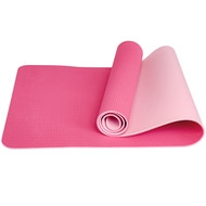 E33585 Коврик для йоги ТПЕ 183х61х0,6 см (розовый/светло розовый), 10019263, КОВРИКИ