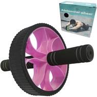 B34467 Ролик гимнастический Широкий (розовый) (d-17.5 см с неопреновыми ручками), 10019277, РОЛИКИ ДЛЯ ПРЕССА