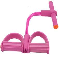 B34485 Эспандер многофункциональный с петлями для ног (розовый)