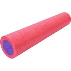 PEF60-8 Ролик для йоги полнотелый 2-х цветный (розово/фиолетовый) 60х15см. (B34496)