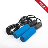 D34402 Скакалка с подшипником ручки неопрен (синяя) (JPB-300), 10019460, 00.Новые поступления