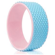 FWH-100 Колесо для йоги массажное 31х12см 6мм (розово/голубое) (D34473)