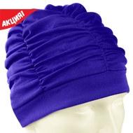 F11780 Шапочка для плавания текстильная (лайкра) (синяя), 10013193, Шапочки текстильные