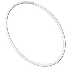 Обруч  гимнастический 60см (белый) (аналог SASAKI)