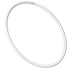 Обруч  гимнастический 75см (белый) (аналог SASAKI)