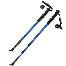 F18433 Палки для скандинавской ходьбы (синяя) до 1,35м Телескопическая
