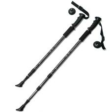 F18435 Палки для скандинавской ходьбы (черная) до 1,35м Телескопическая