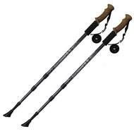 F18439 Палки для скандинавской ходьбы (черные) до 1,35м Телескопическая, 10014071, 13.ТУРИЗМ