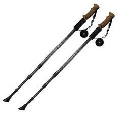 F18439 Палки для скандинавской ходьбы (черные) до 1,35м Телескопическая