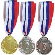 F18539 Медаль 2 место  (d-5 см, лента триколор в комплекте), 10014109, 15. НАГРАДНАЯ ПРОДУКЦИЯ
