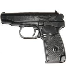 """Пистолет тренировочный """"2M"""" (черный), (мягкий)"""
